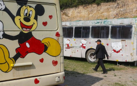 Chinese Mini Buses Converted into Boutique Bus Hotels