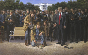 Painter Jon McNaughton's novel portrayal of modern conservatism